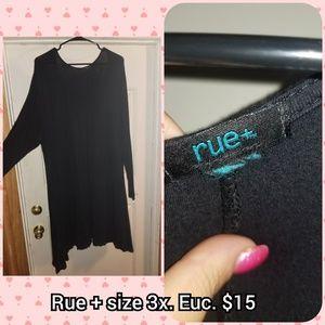 Rue plus size 3x black tunic/ dress